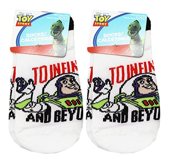 Disney Pixars Buzz Lightyear To Infinity and Beyond Socks (Size 6-8, 2