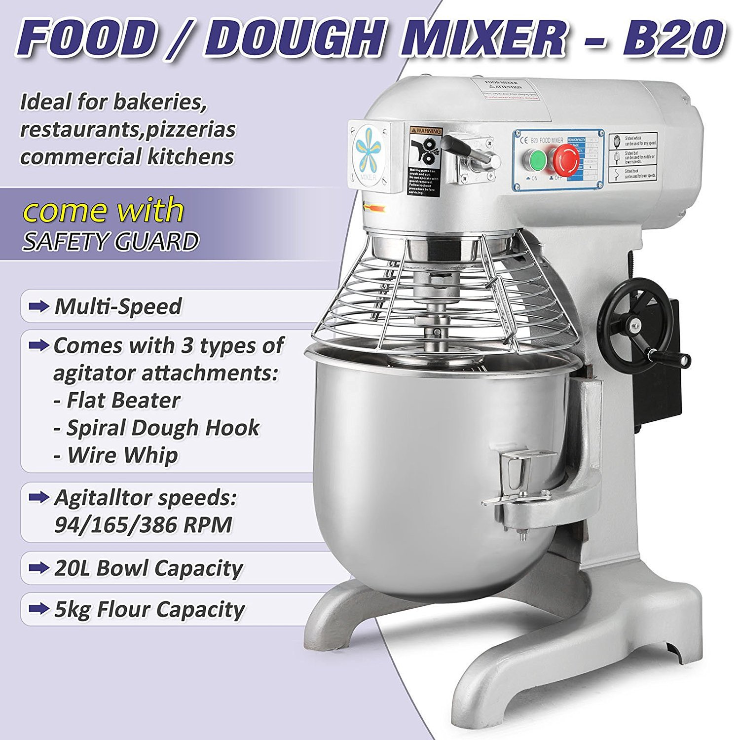 Dough Mixer Wiring Diagram Library Commercial Details Amazoncom Orangea Food Stand Electric Grade 20 Quart