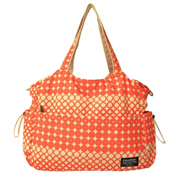 11b4342fad Amazon.com   Damero Large Diaper Tote Satchel Bag (Orange)   Baby