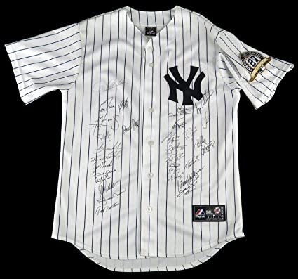 2009 NY Yankees World Series Champs Team Signed Jersey Derek Jeter Rivera  JSA at Amazon s Sports Collectibles Store 98af0635b