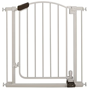 amazon com summer infant step to open gate silver indoor safety