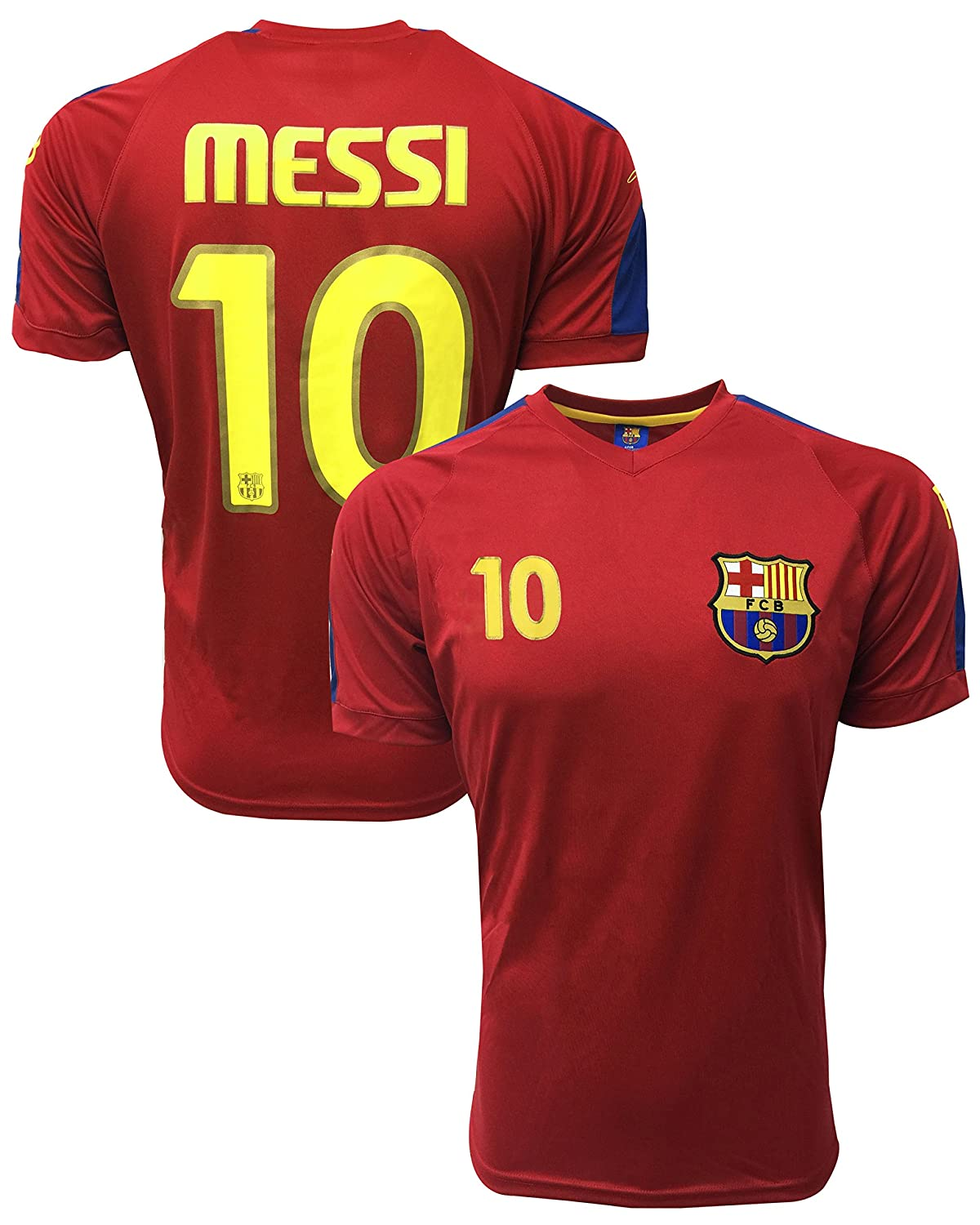 4220c6b8289 Amazon.com  Lionel Messi Jersey  10 -(Adults) Barcelona Official Product  Jersey with The Signature