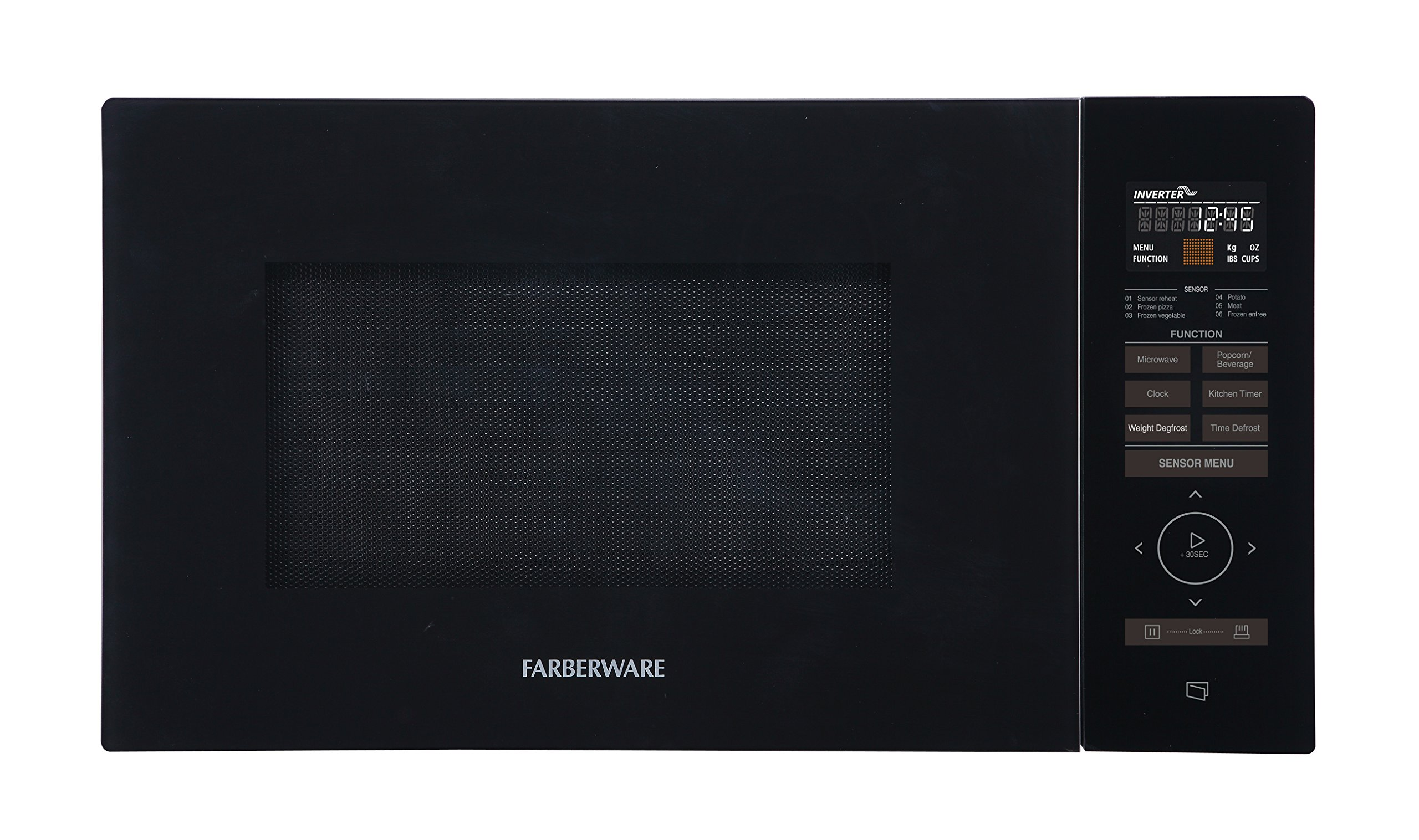 Farberware Gourmet FMO11AESBKA Microwave Oven, 1.1 Cubic Foot 1100 Watt with Smart Sensor, Inverter Technology, and Sensor Touch Control Panel, Black by Farberware