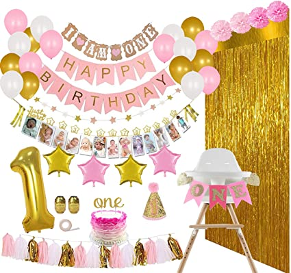PK 3 BABY GIRLS 1ST BIRTHDAY EMBELLISHMENT TOPPERS FOR CARDS