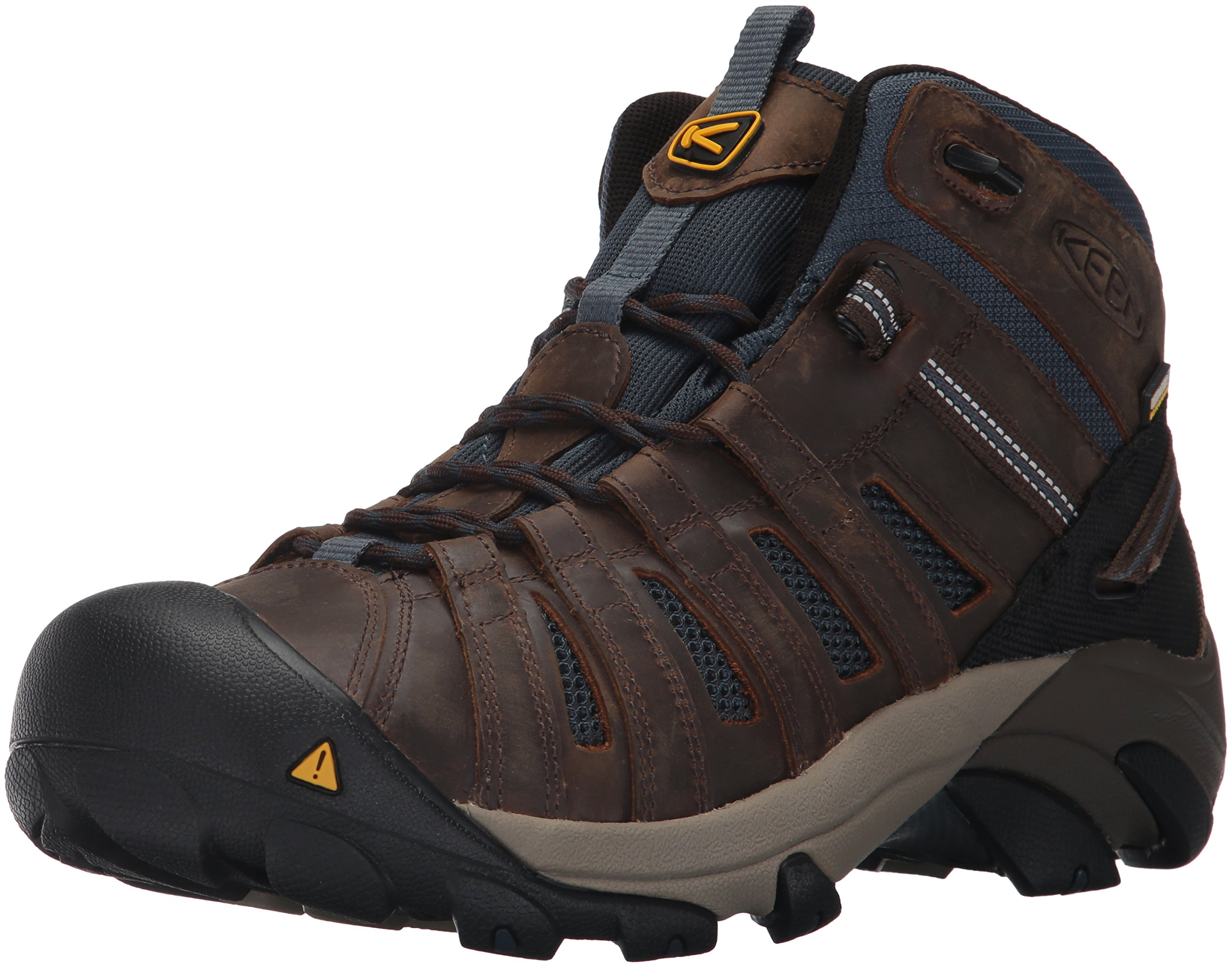 Keen Utility Men's Cody Mid Soft Toe Waterproof Industrial and Construction Shoe, Cascade Brown/Midnight Navy, 10.5 D US