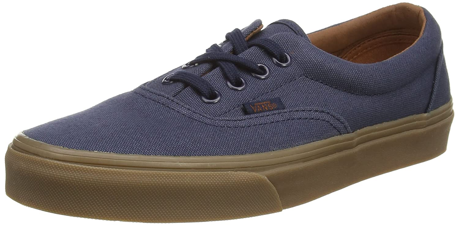 Vans Unisex Era Skate Shoes, Classic Low-Top Lace-up Style in Durable Double-Stitched Canvas and Original Waffle Outsole B00RPPQWGY 6 B(M) US Women / 4.5 D(M) US Men |Blue Nights Gum