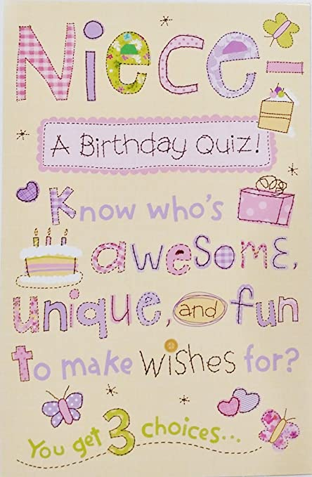Amazon Niece A Birthday Quiz Know Whos Awesome Unique