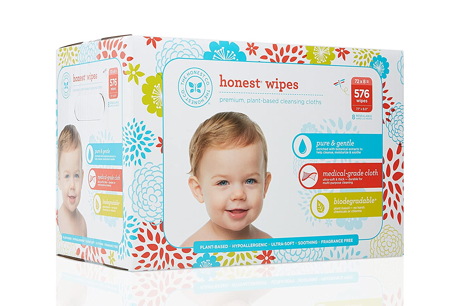 The Honest Company Honest Company Baby Wipes, Fragrance Free, Classic, 288 Count The Honest Company Inc 817810014680
