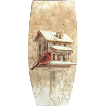 Amazon Stony Creek Lighted Tall 12 Glass Vase Cardinal Bird
