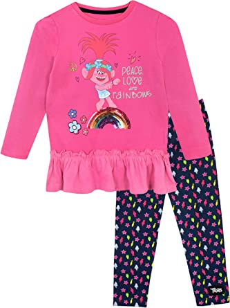 Trolls Girls Poppy Top and Leggings