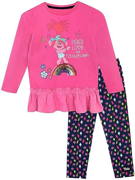 b10e16818 Amazon.com: Trolls Girls' Poppy Top and Leggings: Clothing