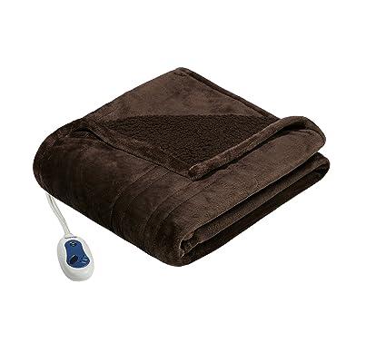Amazon Beautyrest Plush Heated Throw Blanket Secure Comfort Interesting Heating Blanket Throw