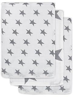 grau//antrazit Jollein 536-848-65009 Mull Waschlappen Little star 3 pack