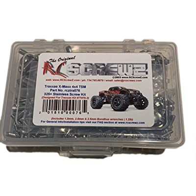 RCScrewZ Traxxas 4x4 TSM Ed. Stainless Screw Kit - tra076 - Traxxas Kit 77076-3 (325+ items): Toys & Games