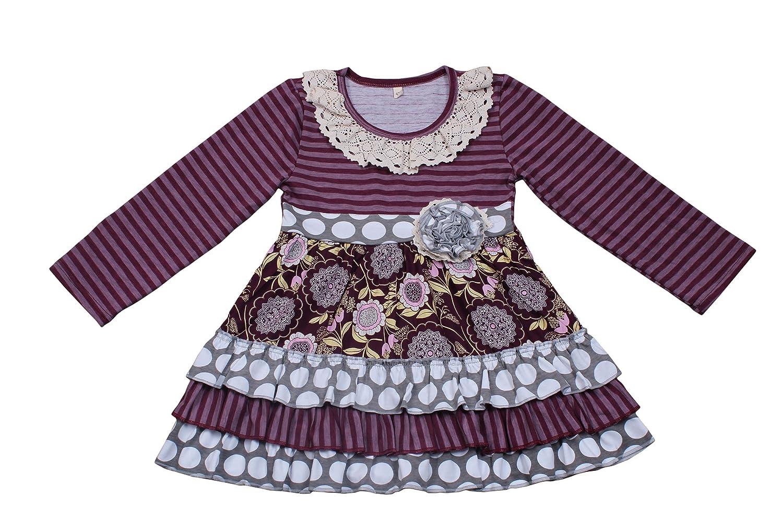 4fb5458b65 Amazon.com: Yawoo Haan Kids Girls Ruffle Dress Pants Party Clothing Set  Boutique Outfits: Clothing