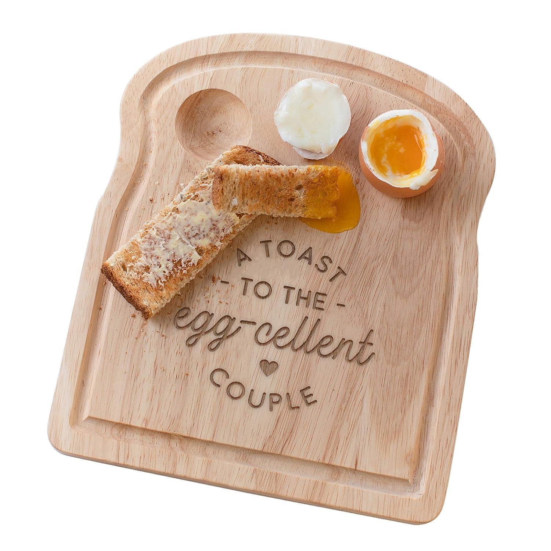 divertente incisione Pun design Unico anniversario di matrimonio fidanzamento casa nuova idea regalo per la nuova sposa e lo sposo Un toast to the Egg-Excellent Couple Board