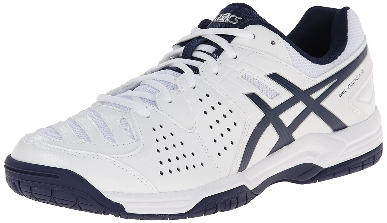 Amazon.com | ASICS Men's Gel-Dedicate 4 Tennis Shoe, White/Navy/Silver, 8.5  M US | Tennis & Racquet Sports