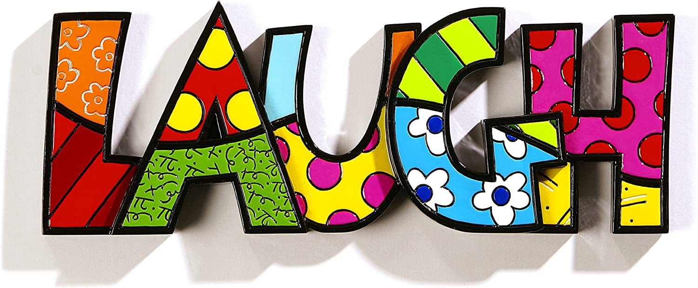 Romero Britto Word Decor LAUGH by Giftcraft