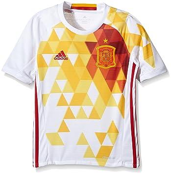 19432a82de adidas 2ª Equipación Federación Española de Fútbol Euro 2016 - Réplica  Oficial niños  Amazon.es  Zapatos y complementos