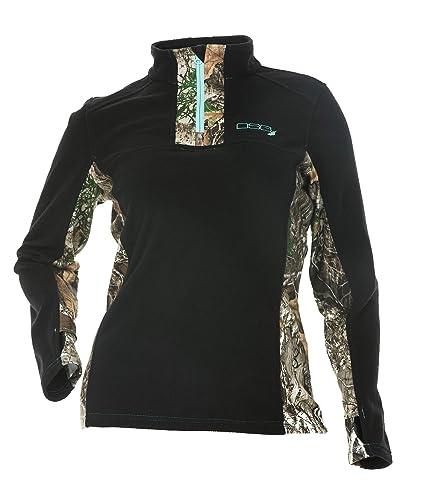 9eea13c518fa5 DSG Outerwear Women's Hunting Gianna Fleece Pullover with Realtree Edge  Camo (Small)