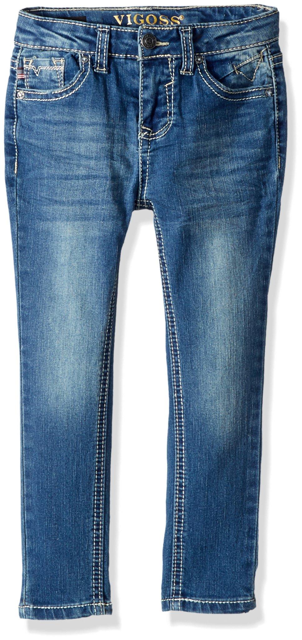 VIGOSS Girls' Little Back Pocket Jean, Vespa, 4