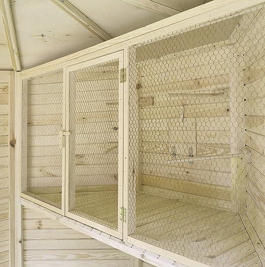 PROMADINO Voliere - Jaula esquinera para pájaros (180 x 80 x 53 cm ...