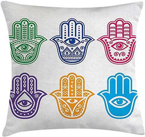 Evil Eye Collection Pillowcase Home Life Cotton Cushion Case 18 x 18 inches