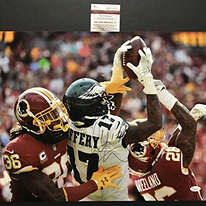 6747328b Autographed/Signed Alshon Jeffery Philadelphia Eagles 16x20 Football ...