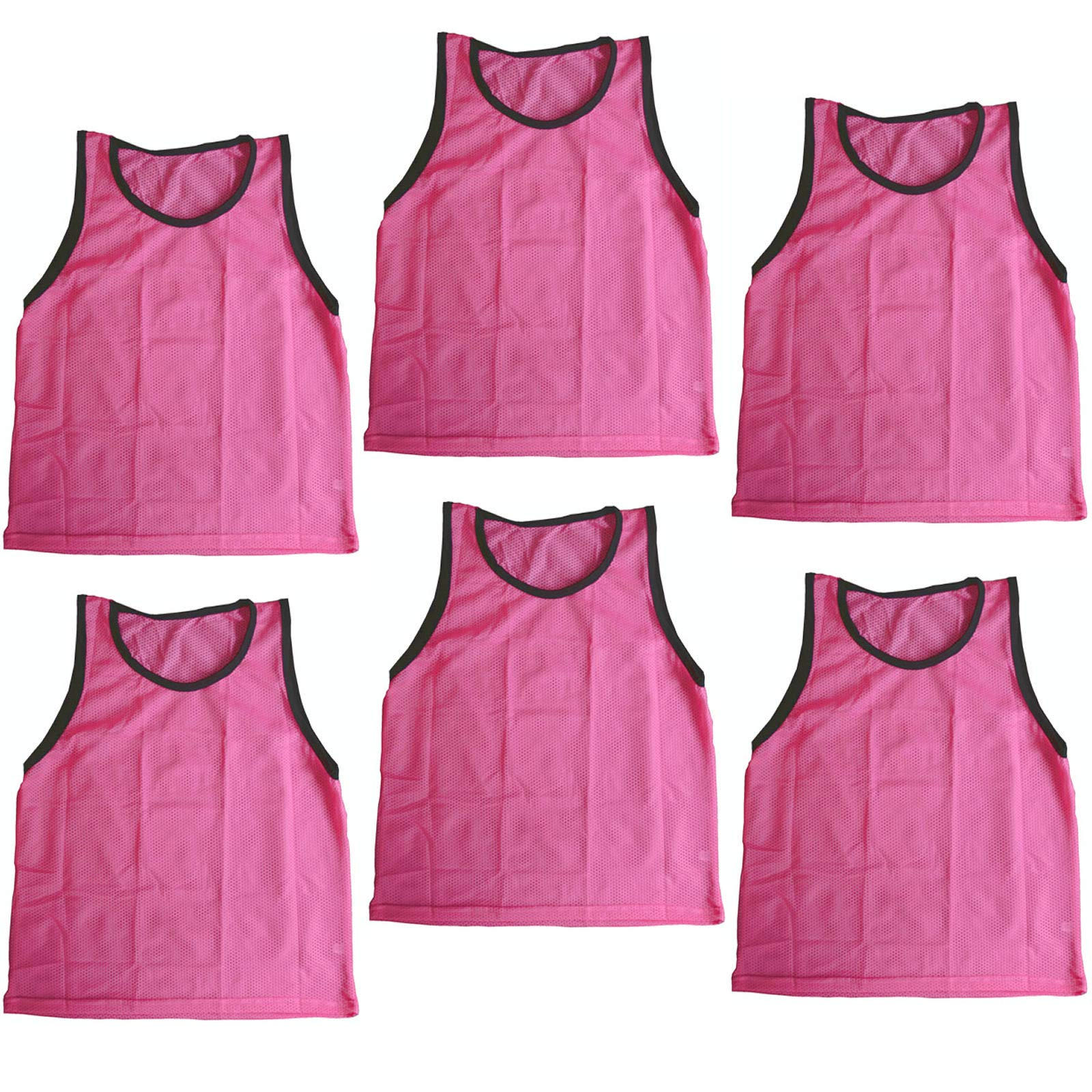 Bright Sun 6 pcs Scrimmage Vests Pinnies Soccer Youth Pink #BDMN by Bright Sun