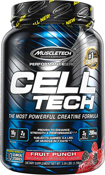 Muscletech Suplemento para Deportistas Cell Tech 3LB, Sabor ...