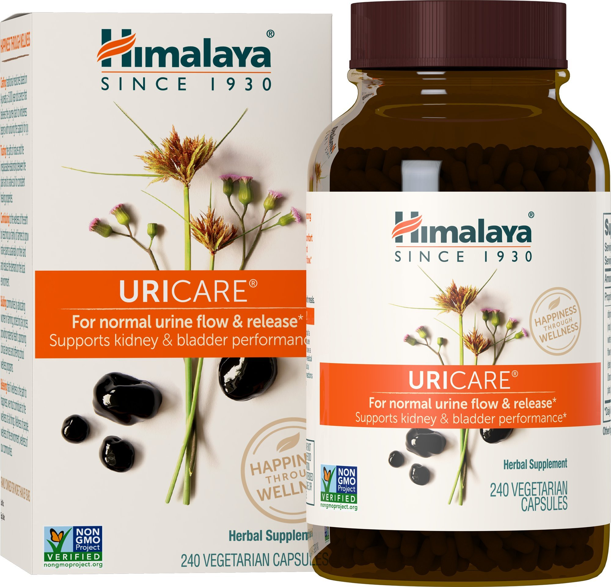 Himalaya UriCare/Cystone, Caffeine-Free Kidney and Urinary Tract Support 840 mg, 240 Capsules, 2 Month Supply by Himalaya Herbal Healthcare