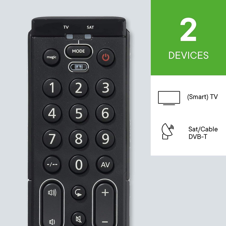 One For All URC7120 - Mando a distancia Universal Essence 2 para 2 dispositivos TV, TNT (Satélite, decodificador/cable): Amazon.es: Electrónica
