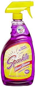 A J Funk & Co 20345 Sparkle Glass Cleaner, Original Purple Formula, 33.8-Ounce Trigger Bottle - Pack of 12