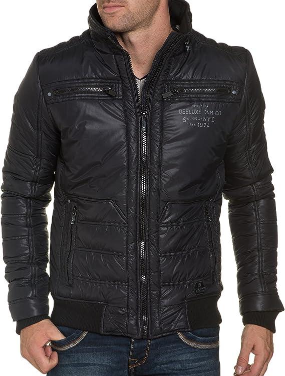 Deeluxe 74 Veste homme noire design couleur: Noir