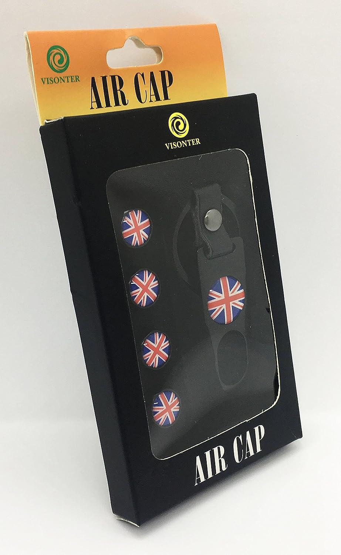 Mini Cooper Union Jack valvola Keychain Combo set accessori Decal Parts