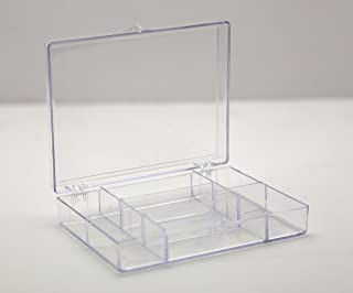 product image for Clear 7 Compartment Hinged Plastic Box - 8 Boxes Per Pack