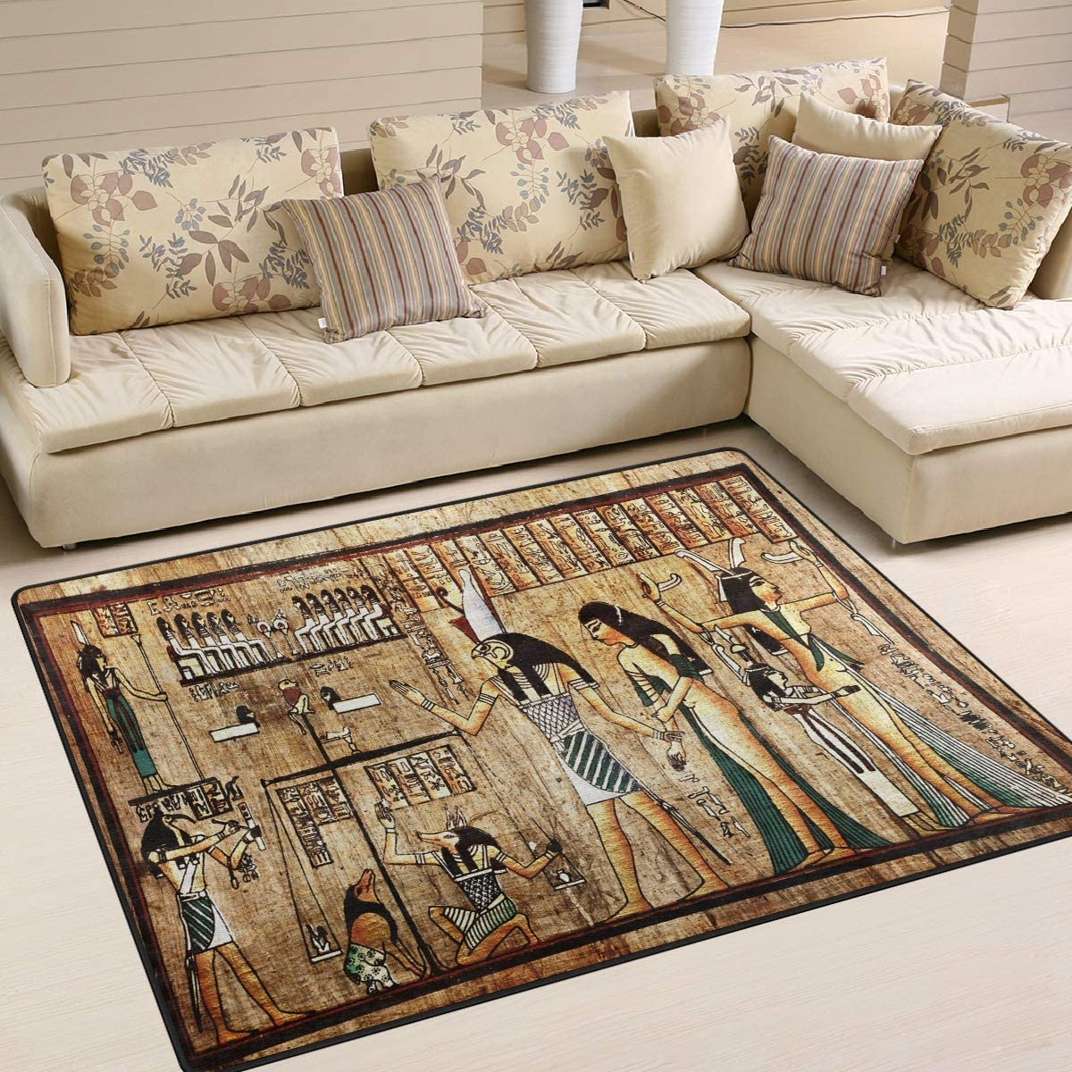 ALAZA Vintage Ancient Egyptian Papyrus Culture Area Rug Rug