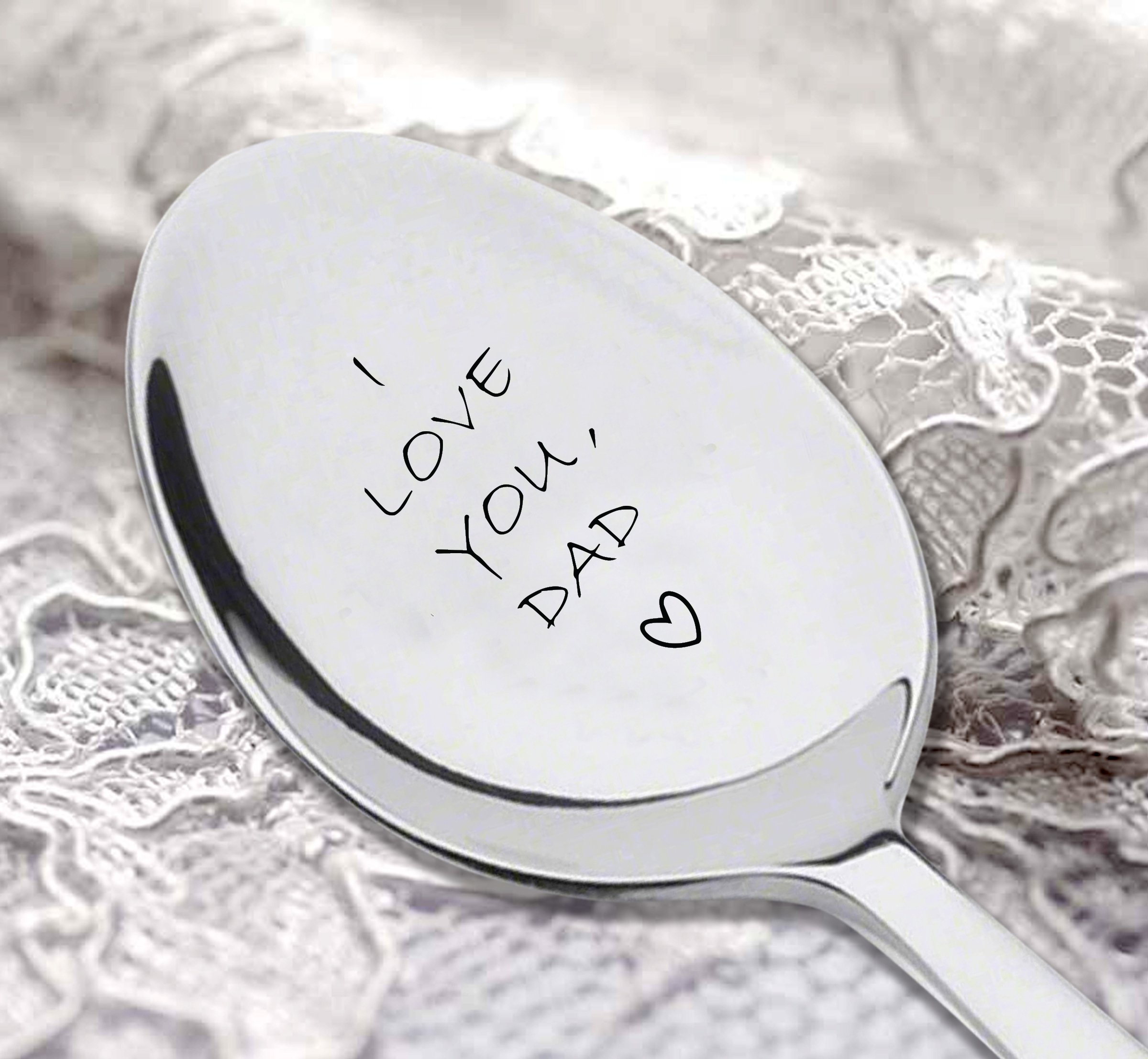 I love you dad Engraved Spoon,dads ice cream spoon,best selling items,gifts for dad,funny gift for dad,dad gifts,new dad,daddy gifts,daddy gifts from son