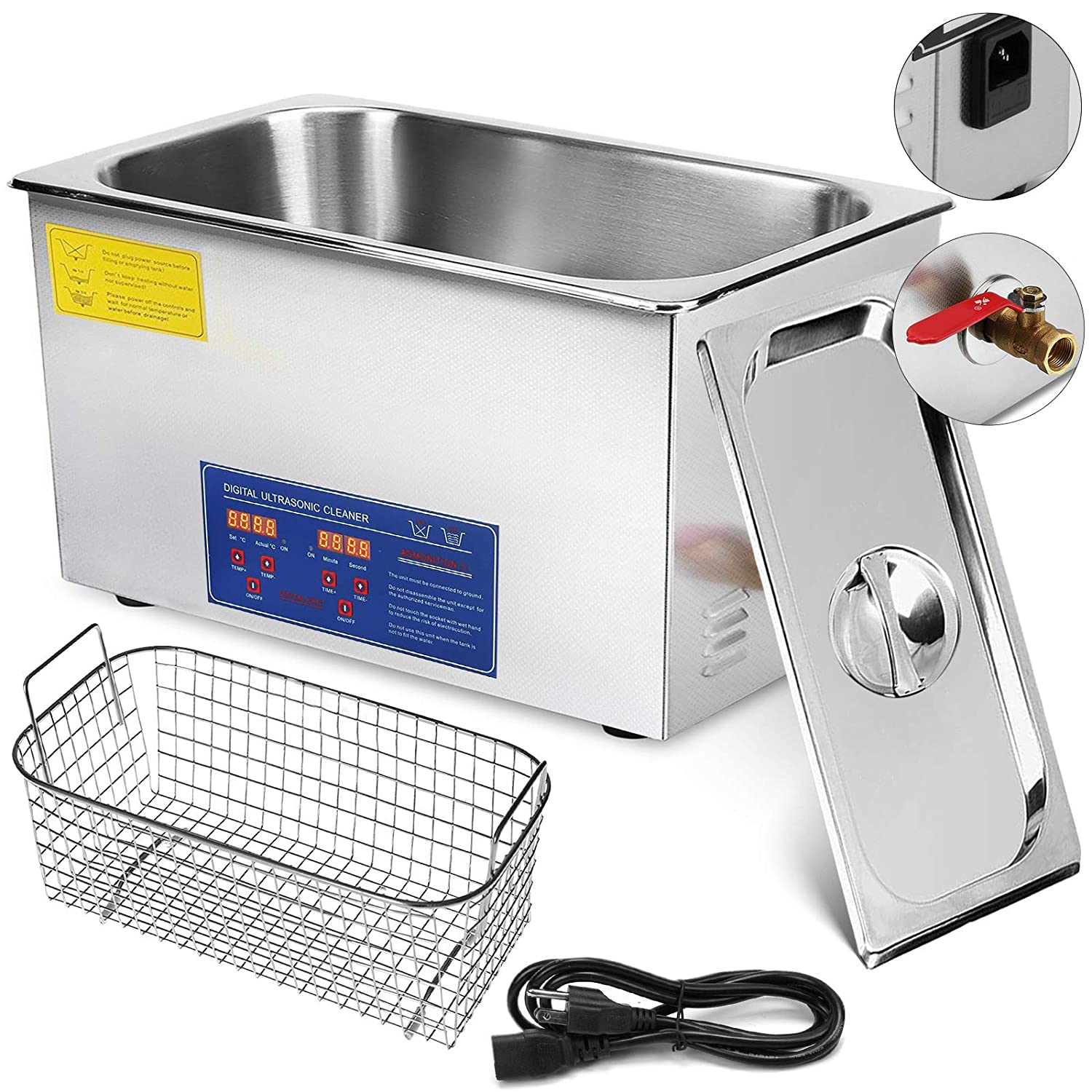 Mophorn Ultrasonic Cleaner 1 3L/2L/3L/6L/10L/22L/30L Heater Timer  Commercial Ultrasonic Cleaner Professional Stainless Steel Industrial  Ultrasonic