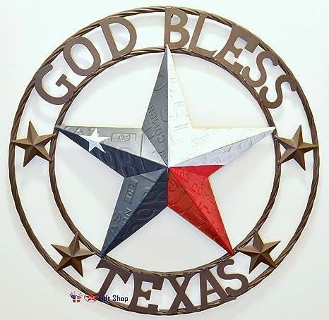 "/""God Bless Texas/"" Decorative Sign"