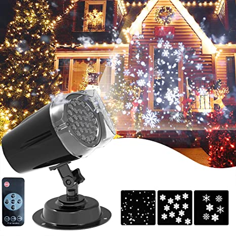 Christmas Projector Lights Upgrade Dynamic Snowflake Projector Lights Snowfall