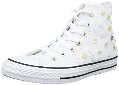 Converse All Star Hi Canvas Studs, Damen U, Weiß Weiß Weiß U, Größe  37 ... dda1af