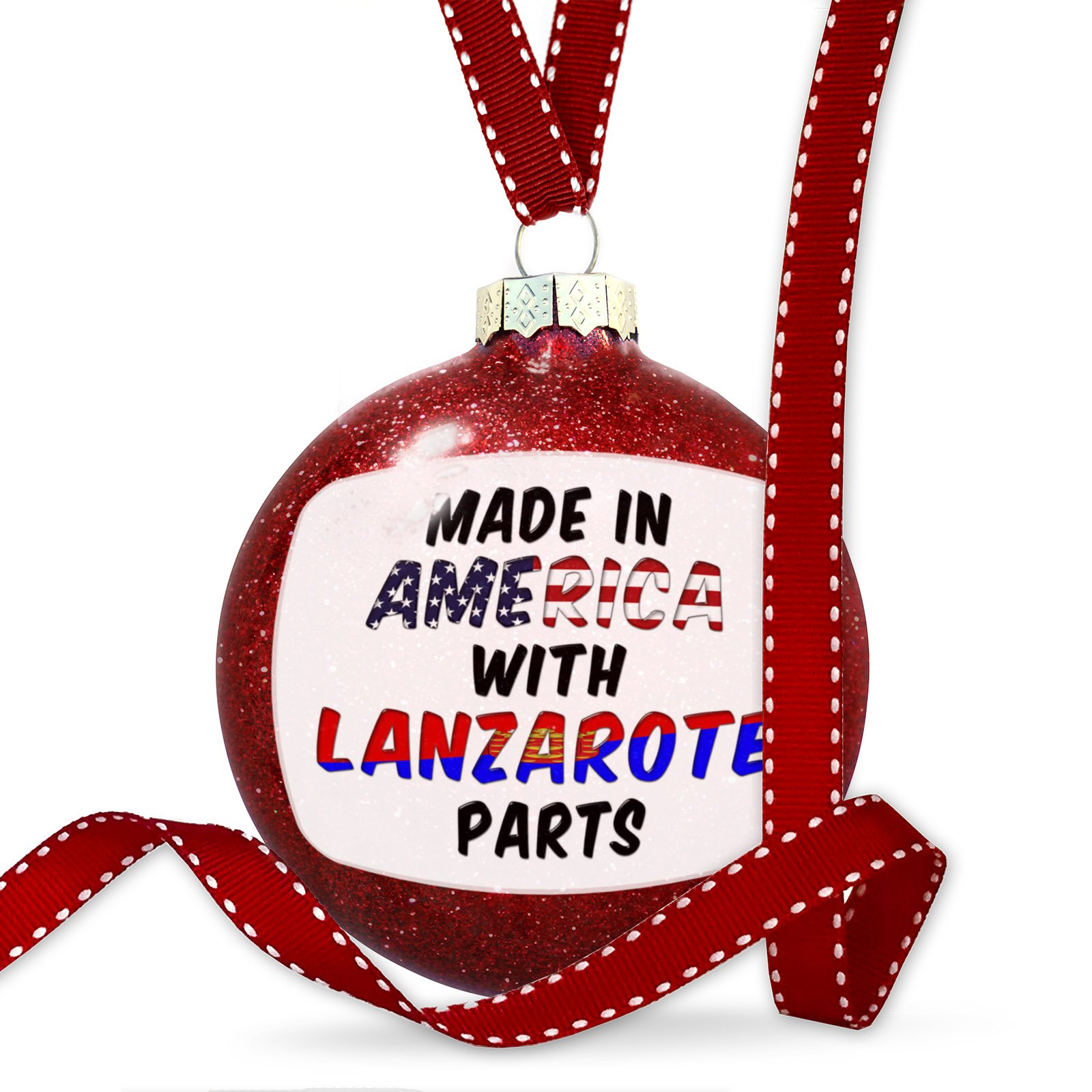 Christmas Decoration Made in America with Parts from Lanzarote Ornament