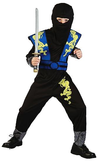 Dragon Ninja Disfraz infantil azul de Negro - Disfraz de ...