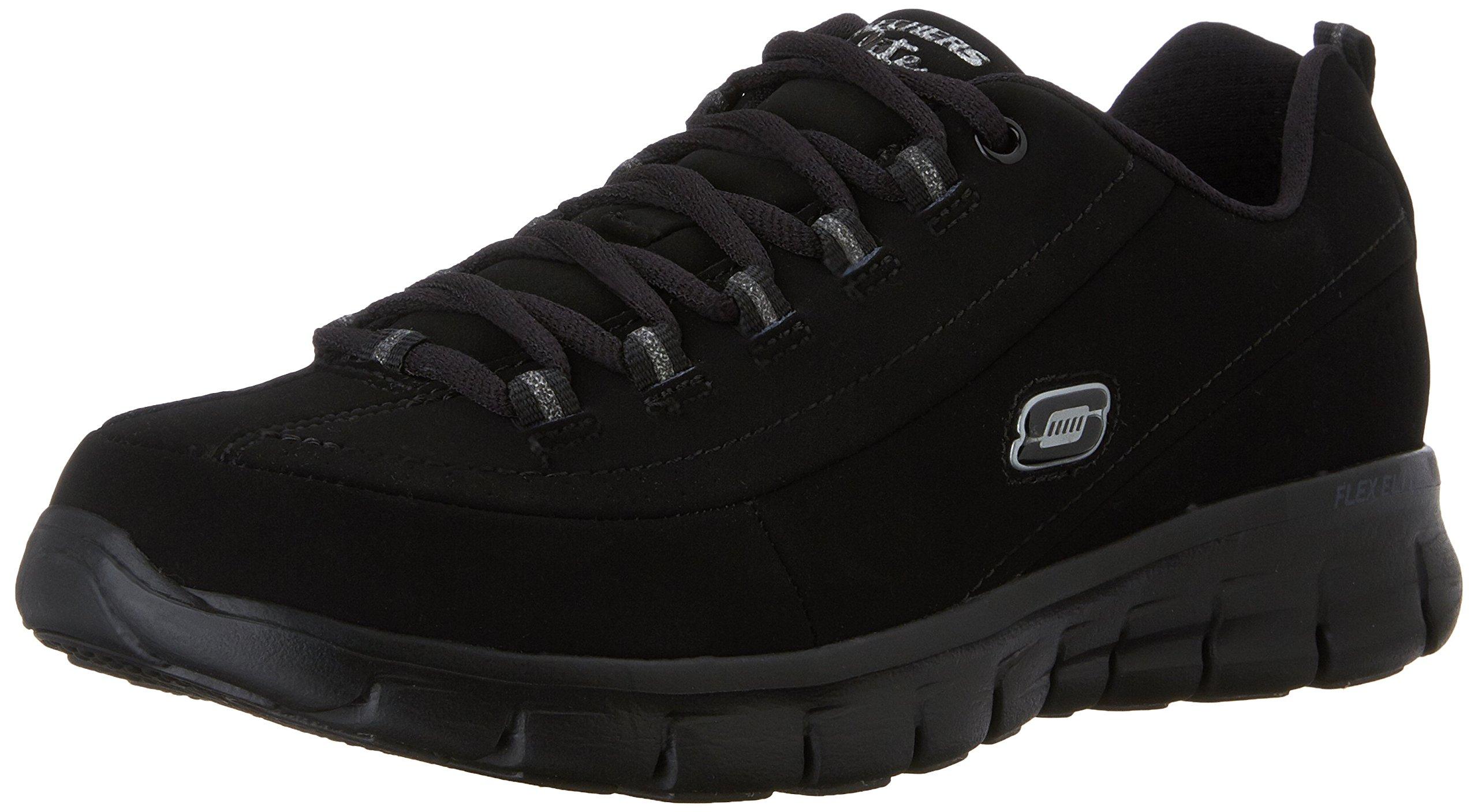 Skechers Sport Women's Trend Setter Fashion Sneaker,Black/Black,8.5 M US