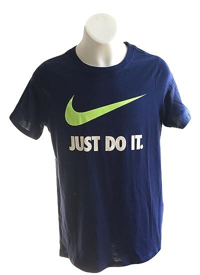 e063ac56 Amazon.com: Nike Boy's T-Shirt 709952-430 Blue Just Do It (M, Blue ...