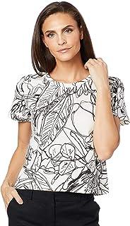 Camiseta Comfort, Sommer, Feminino, Rosa/off/preto, P
