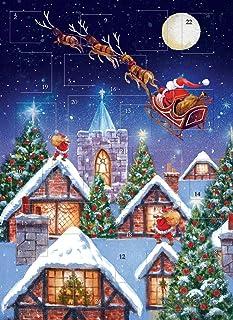 Traditional Advent Calendar Around The World - Glitter Finish 24 Doors