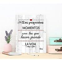 DCine Cuadro Frases/Frases positivas/Cuadro Madera/Regalo/Normas del hogar/Normas
