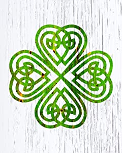 Celtic Shamrock Knot - Wall Decor Art Print on a white background - 8x10 unframed Celtic-themed print - great gift for people of Celtic descent or those interested in the culture